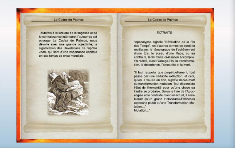 "Extraits ""  Le Codex de Patmos"""